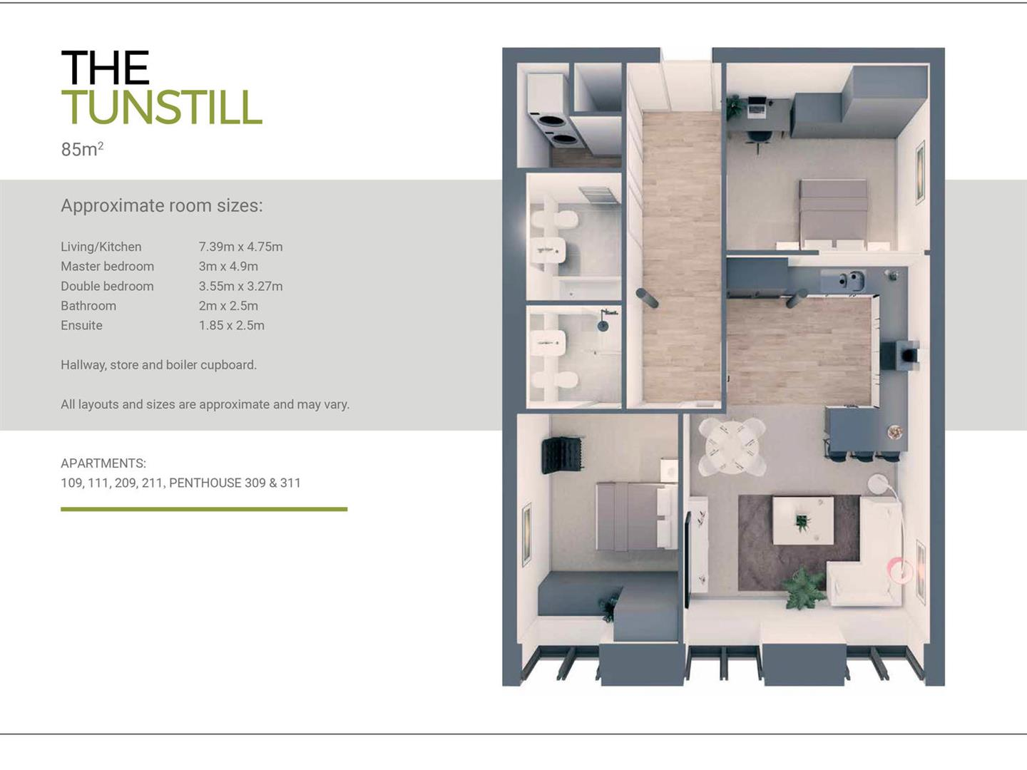 2 Bedroom Apartment For Sale - the tunstall floorplan.jpg